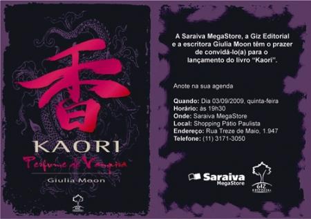 Convite: Kaori: Perfume de Vampira