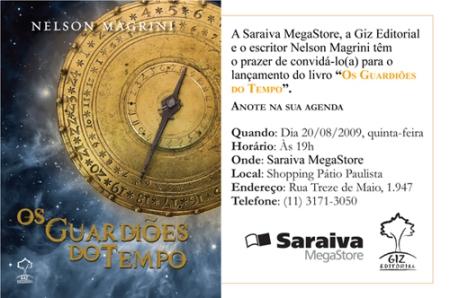 Convite: Os Guardiões do Tempo